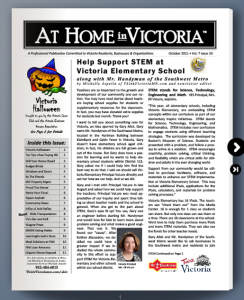 At Home in Victoria MN Newsletter Cover